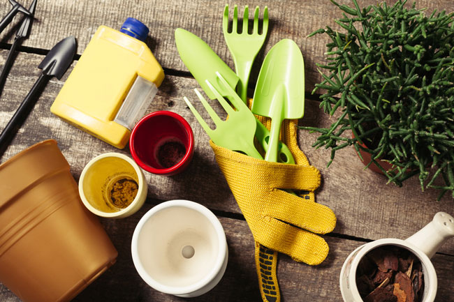 8 Great Ways you can Re-purpose Kitchen tools as Garden Tools